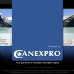 Maquette du site Canexpro.com