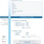 Formulaire pdf d'inscription