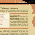 Site Laboratoire de Psychologie de la fac de Besançon - 2005